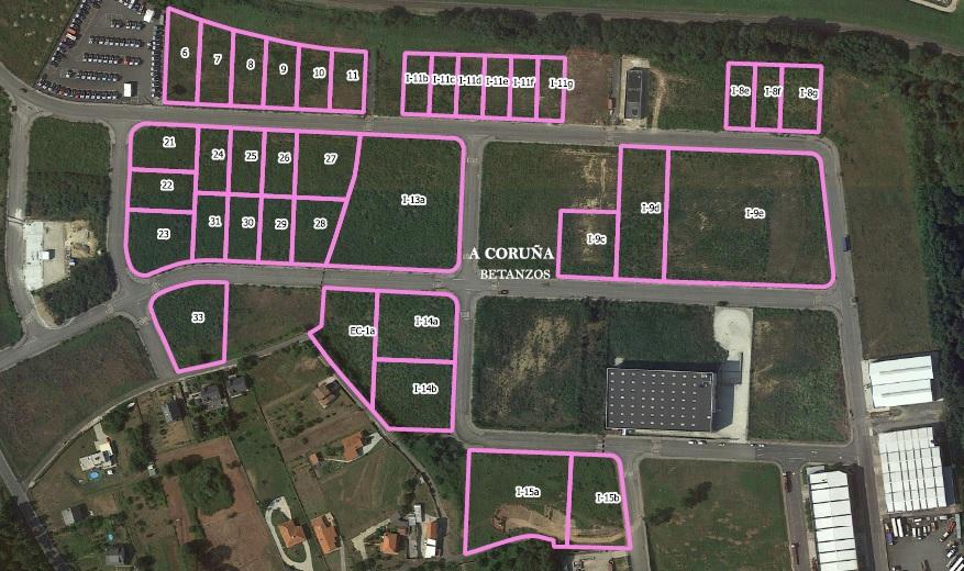 Parcelas industriales en Betanzos
